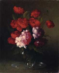 Théodule Augustin Ribot - Peonies and Poppies in a ..