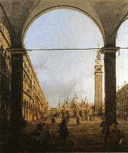 Giovanni Antonio Canal (Canaletto) - Piazza San Marco, Looking East