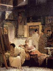 Lawrence Alma-Tadema - A Picture Gallery (also known as Benjamin Constant)
