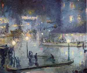 Theodore Earl Butler - Place du Rome at Night
