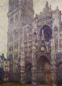 Claude Monet - The Portal and the Tour d-Albene, Grey Weather