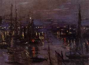 Claude Monet - The Port of Le Havre, Night Effect