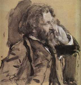 Ilya Yefimovich Repin - Portrait of the Artist Il..
