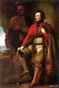 Benjamin West - Portrait of Colonel Guy Johnson and Karonghyontye