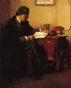 William Merritt Chase - Portrait of Elbert Hubbard (also known as The Roycrafter)