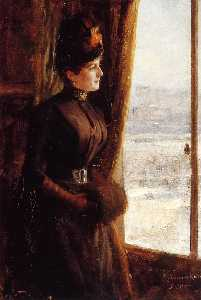 Albert Edelfelt - Portrait of Madame Valler..