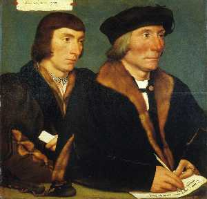 Hans Holbein The Younger - Portrait of Sir Thomas Godsalve and His Son John