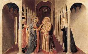 Fra Angelico - The Presentation of Christ in the Temple (The Cortona Altarpiece)