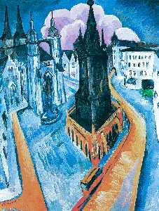 Ernst Ludwig Kirchner - The Red Tower at Halle