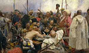 Ilya Yefimovich Repin - The Reply of the Zaporozh..