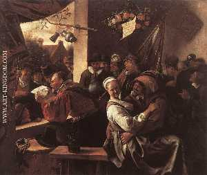 Jan Steen - The Rhetoricians - ''In l..