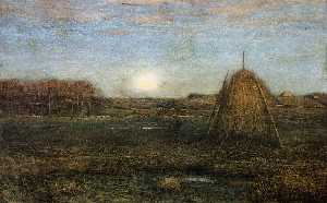 Dwight William Tryon - The Rising Moon: Autumn