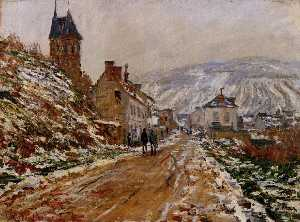 Claude Monet - The Road in Vetheuil in Winter