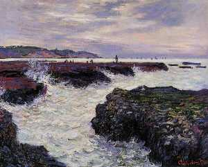 Claude Monet - The Rocks at Pourville, Low Tide