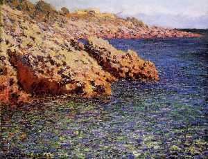 Claude Monet - Rocks on the Mediterranean Coast (also known as Cam d-Antibes)