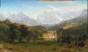 Albert Bierstadt - The Rocky Mountains, Land..