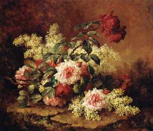 Paul De Longpre - Roses and Mahogany