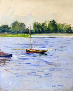 Gustave Caillebotte - Sailing Boats on the Seine at Argenteuil