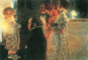 Gustav Klimt - Schubert at the Piano II