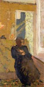 Jean Edouard Vuillard - Seated Woman Dressed in Black