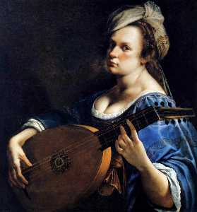 Artemisia Gentileschi - Self-Portrait as a Lute P..