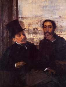 Edgar Degas - Self Portrait with Evariste de Valernes