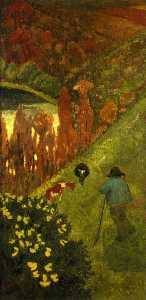 Paul Serusier - Shepherd in the Valley of..