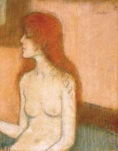 Jozsef Rippl Ronai - Sitting Nude with Red Hair