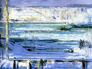 George Wesley Bellows - Snow-Capped River