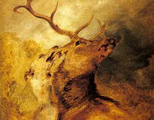 Edwin Henry Landseer - Stag and Hound