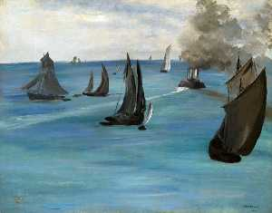 Edouard Manet - Steamboat (also known as Seascape, Calm Weather)