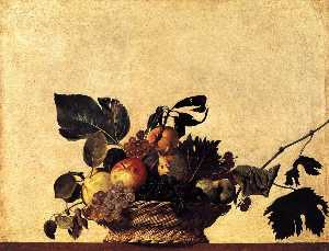 Caravaggio (Michelangelo .. - Still Life with a Basket ..