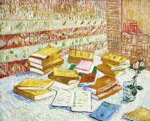 Vincent Van Gogh - Still Life with Books, Romans Parisiens----