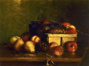 Charles Ethan Porter - Still LIfe with Fruit and Basket