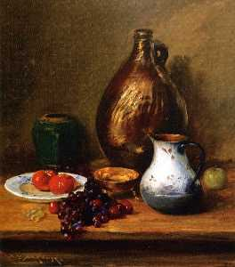 William Merritt Chase - Still LIfe with Fruit and..