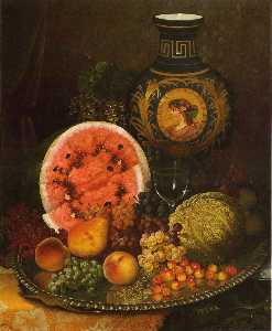 William Mason Brown - Still Life with Fruit and Vase