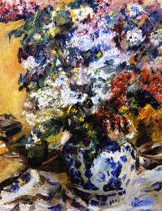 Lovis Corinth (Franz Heinrich Louis) - Still LIfe with Lilacs
