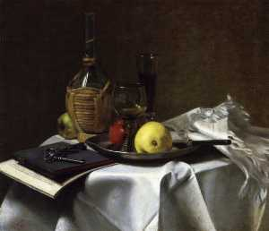 Charles Ethan Porter - Still Life with Pears and Cask