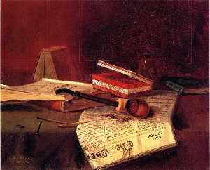 Nicholas Alden Brooks - Still Life with Pipe, Tob..