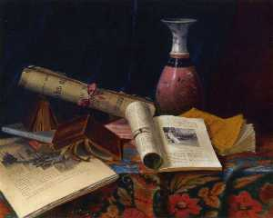 Nicholas Alden Brooks - Still Life with Vase and ..