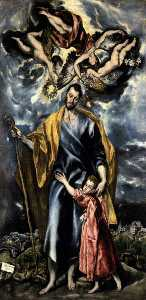 El Greco (Doménikos Theotokopoulos) - St. Joseph and the Christ Child