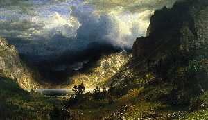 Albert Bierstadt - A Storm in the Rocky Moun..