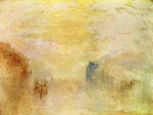 William Turner - Sunrise, with a Boat betw..