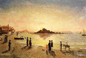 Conrad Wise Chapman - Sunset at Saint Malo