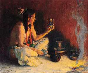 Eanger Irving Couse - Taos Indian and Pottery