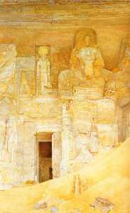 Henry Roderick Newman - The Temple Door at Abu Simbel