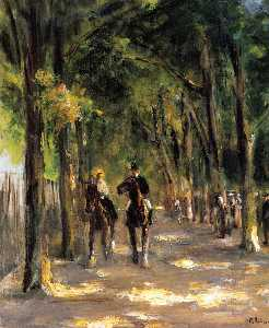 Max Liebermann - Tree-Lined Avenue with Tw..