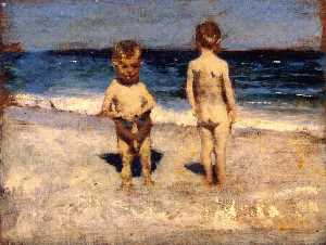 John Singer Sargent - Two Boys on a Beach, Naples (also known as Innocents Abroad or LIttle Boys, Naples)