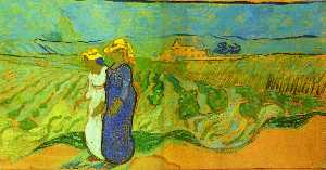 Vincent Van Gogh - Two Women Crossing the Fields