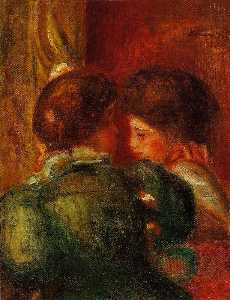 Pierre-Auguste Renoir - Two Women-s Heads (also known as The Loge)